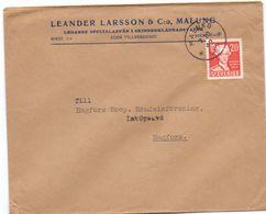 Enveloppe Kuvert  - Pub Reklam Leander Larsson & Co - Malung  - Till Hagfors Sverige Suède Zweden 1942 - Suède