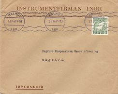 Enveloppe Kuvert  - Pub Reklam Instrumentfirman Inor Malmö - Till Hagfors Sverige Suède Zweden 1944 - Sweden