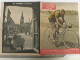 Miroir Sprint Tour De France 8 Aout 1950 Kubler Dijon Saint Florentin Dijon Paris Tonnerre Pont Sur Yonne Parc Des - Sport