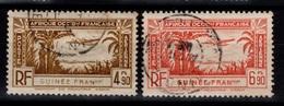 Guinee - YV PA 4 & 5  Obliteres Cote 2,60 Euros - Guinée Française (1892-1944)