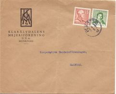 Enveloppe Kuvert  - Pub Reklam Klarälvsdalens - Munkfors - Till Hagfors Sverige Suède Zweden 1943 - Suède