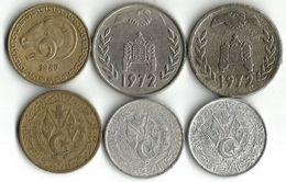 Lot 6 Pièces De Monnaie 5  - 20  Centimes Et 1 Dinar - Algeria