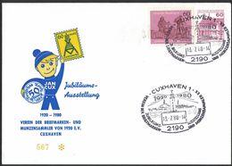 LT142     Germany 1980 Sonderstempel, 60 Jahre BSV Cuxhaven, Leuchtturm - Affrancature Meccaniche Rosse (EMA)