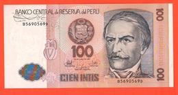 Perù Peru Cien 100 Intis 1987 Ramon Castilla - Perù