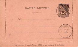 59Cc  Carte Lettre Neuve Madagascar Diego Suarez Timbre Français Colonies 25c Préimprimé Surchargé 2 Cachets 30 Nov 1893 - Madagascar