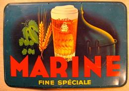 TOLE MARINE FINE BIERE / ETIPAN 67 ODON WARLAND BRUXELLES TAXE PAYEE BRUXELLES 1958 ( BIERE BRASSERIE ) - Brands