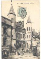 TROYES .73. L'HOTEL DE VAULUISANT . CARTE  AFFR SUR RECTO LE 30 AOUT 1905 - Troyes