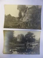 LOT 2 CARTES PHOTO ST CHERON LA FERME CREVECOEUR ET SOUZY LA BRICHE - Saint Cheron
