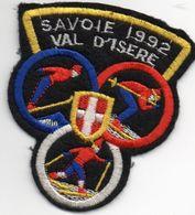 Grand écusson Feutre, SAVOIE 1992, VAL D'ISERE - Scudetti In Tela