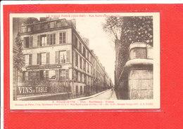 75 PARIS Cpa Rue Saint Louis En L '' Ile  Etabissement Rouquette - Arrondissement: 04