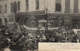 71 CHALON-sur-SAONE  Carnaval 1913 - Sur Le Grand Canal - Chalon Sur Saone