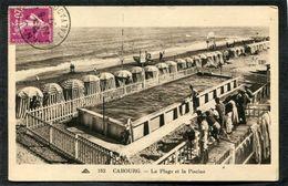 CPA - CABOURG - La Plage Et La Piscine, Animé - Cabourg