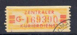DDR   Dienstmarke  NR. 19 G - [6] Democratic Republic