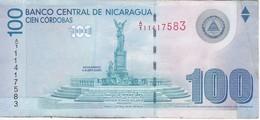 BILLETE DE NICARAGUA DE 100 CORDOBAS DEL AÑO 2007 (BANKNOTE) - Nicaragua