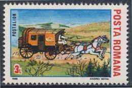 Romania Romana Rumänien 1988 Mi 4435 ** Mail Coach + Horses / Alter Postwagen -  INTEREUROPA - Postkoetsen