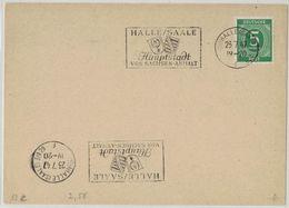 LT145     Germany 1947 - Halle Saale - Sonderstempel - Machine Stamps (ATM)