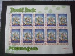 Nederland, Netherlands Nice Sheet Donald Duck Figures MNH (strip Figuren) 4 Disney - Disney