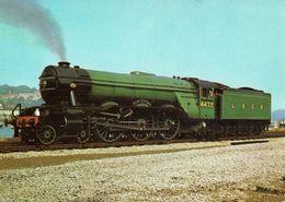 Railway Postcard LNER A3 4472 Flying Scotsman Kingswear Gresley Pacific Loco - Trains
