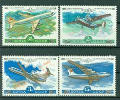URSS 1979 - Y & T N. 138/41 Poste Aérienne - Avions De La Compagnie Aéroflot - Unused Stamps