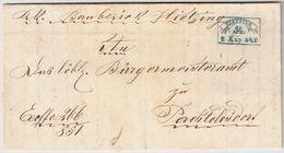 """Österreich, 1851, Fahnen-Stp. (Wien) """" HITZING """" , A138 - ...-1850 Prephilately"""