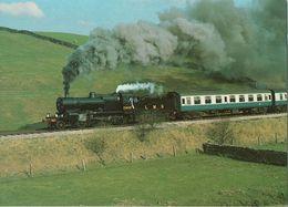 Railway Postcard LMS 7F 13809 Somerset & Dorset 2-8-0 Loco S&DJR J Salmon - Trains