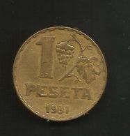 SPAIN / SPAGNA - 1 PESETA (1937 - 2ª REPUBLICA) - [ 2] 1931-1939 : Repubblica