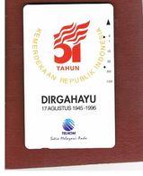 INDONESIA - TELKOM  -  1996 51^ANNIV. INDONESIA REPUBLIC        - USED - RIF. 10373 - Indonesia