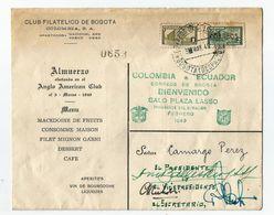 COLOMBIA 1949 CARTA INVITACION. DIRIGIDA AL PRESIDNTE DEL CLUB FILATELICO - Colombia
