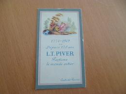 Carte Parfumée Pub Piver L.T. Cuir De Russie - Cartes Parfumées