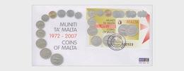 Malta 2007 First Day Cover - Coins Of Malta - Malta