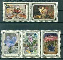 URSS 1979 - Y & T N. 4612/16 - Les Fleurs Dans La Peinture Russe - 1923-1991 USSR