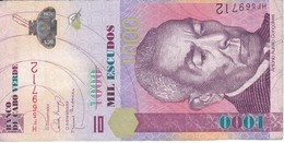 BILLETE DE CABO VERDE DE 1000 ESCUDOS DEL AÑO 2007   (BANKNOTE) - Cape Verde