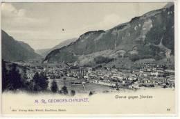 GLARUS GEGEN NORDEN LITHO   UM 1900 - GL Glarus