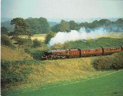 Railway Postcard LMS 6201 Princess Elizabeth Stanier Pacific Loco J Salmon - Trains