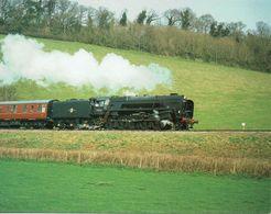 Railway Postcard BR 9F 92212 Riddles 2-10-0 Loco J Salmon Cameracolour - Trains