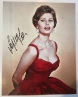 SOFIA LOREN Original Signed Autograph Photo: Italian Cinema Film Actress (autographe Actrice Italie - Autogramme & Autographen
