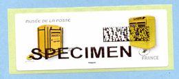 """2017 LISA 2 MUSÉE DE LA POSTE  SPECIMEN  BOITE AUX LETTRES Type """"Dejoie"""" - 2010-... Vignettes Illustrées"""