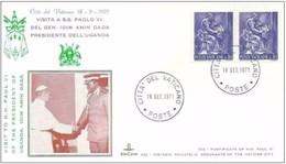 VATICANO -18 9 1971 SS PAOLO VI CONCEDE UDIENZA AL PRESIDENTE UGANDA AMIN DADA - Vaticano (Ciudad Del)