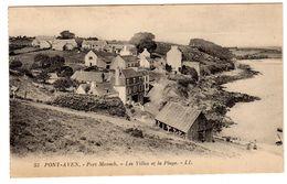 CPA Pont Aven 29 Finistère Port Manech Les Villas Et La Plage éditeur LL N°53 - Pont Aven