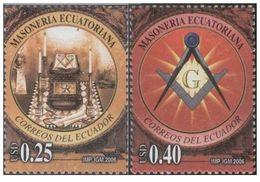 ECUADOR Masoneria Ecuatoriana 2v. Mint ** MNH MASSONERIA MASONIC FREEMASONRY - Freemasonry