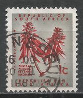 South Africa 1961. Scott #255 (U) Coral Tree Flower * - Afrique Du Sud (1961-...)