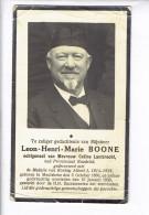DP 3318 - LEON NOONE - MEULEBEKE 1860 + 1939 - Medaille Koning Albert 1914-1918 - Images Religieuses
