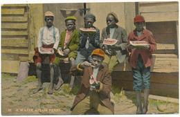 BLACK AMERICANA - A Water Melon Feast - Black Americana