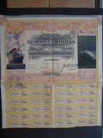 Action 1921 PARIS - COMPAGNIE DES CLARIDGES HOTELS - Magifique Décor : Bateau, Train - Actions & Titres