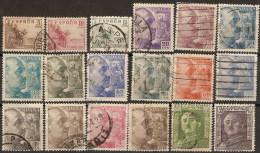 España U 1044/1061 (o) Franco 1949. - 1931-50 Gebraucht