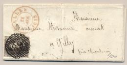 België - 1852 - 10c Leopold I Op Compleet Vouwbriefje Van Nivelles Naar Gilly - 1851-1857 Medaillons (6/8)