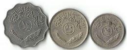 Lot 3 Pièces De Monnaie  10-  25- Et 50 - Fils - Iraq