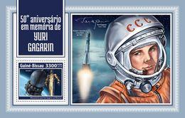 Guinea Bissau. 2018 50th Memorial Anniversary Of Yuri Gagarin. (205b) - Africa