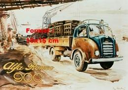 Reproduction D'une Photographie D'une Affiche Publicitaire Pour Le Camion Alfa Romeo 900 - Repro's