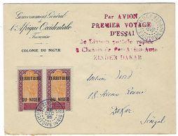 Première Liaison Aérienne, Vol D'essai Zinder Dakar Du 28 / 12 / 1925 - Marcophilie (Lettres)